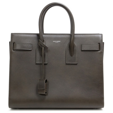 Saint Laurent Brown Calfskin Small Sac de Jour