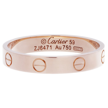 Cartier 18K Rose Gold Love Wedding Band