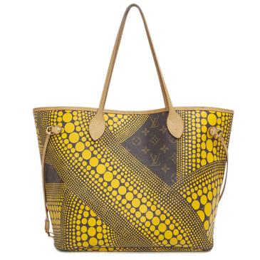 Louis Vuitton Yellow Yayoi Kusama Monogram Waves Neverfull MM
