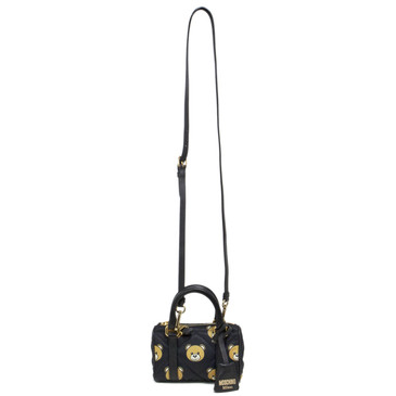 Moschino Mini Quilted Teddy Bear Crossbody Bag