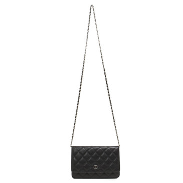 Chanel Black Caviar Classic Wallet on Chain WOC