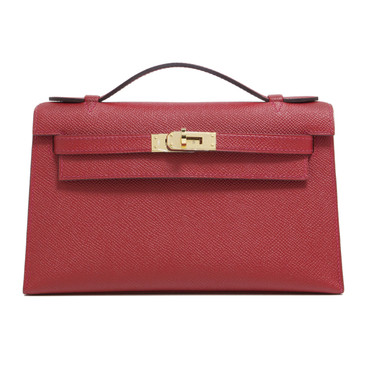 Hermes Red Epsom Kelly Pochette