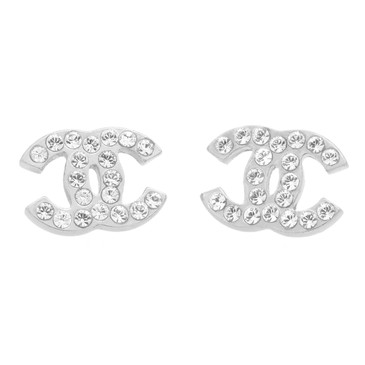 Chanel Crystal Timeless CC Earrings