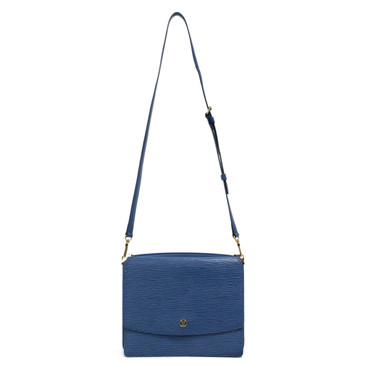 Louis Vuitton Vintage Blue Epi Grenelle Shoulder Bag