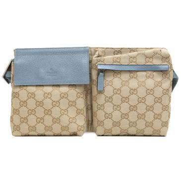Gucci Light Blue Monogram Belt Bag