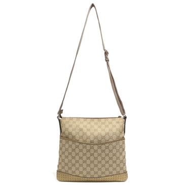 Gucci GG Monogram Canvas Perforated Messenger