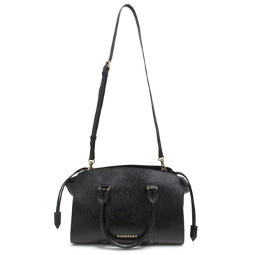 Burberry Black Patent Medium Dinton Tote