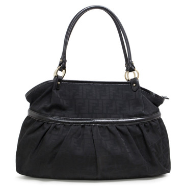 Fendi Black Zucca Canvas Large Chef Tote