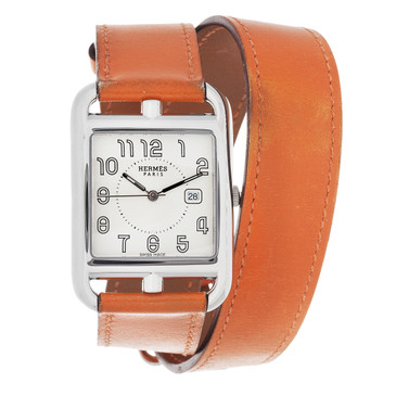 Hermes Stainless Steel Large Cape Code Watch