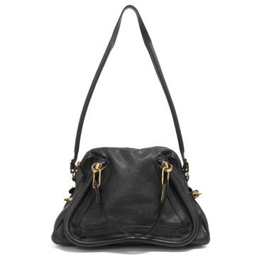Chloe Black Calfskin Medium Paraty
