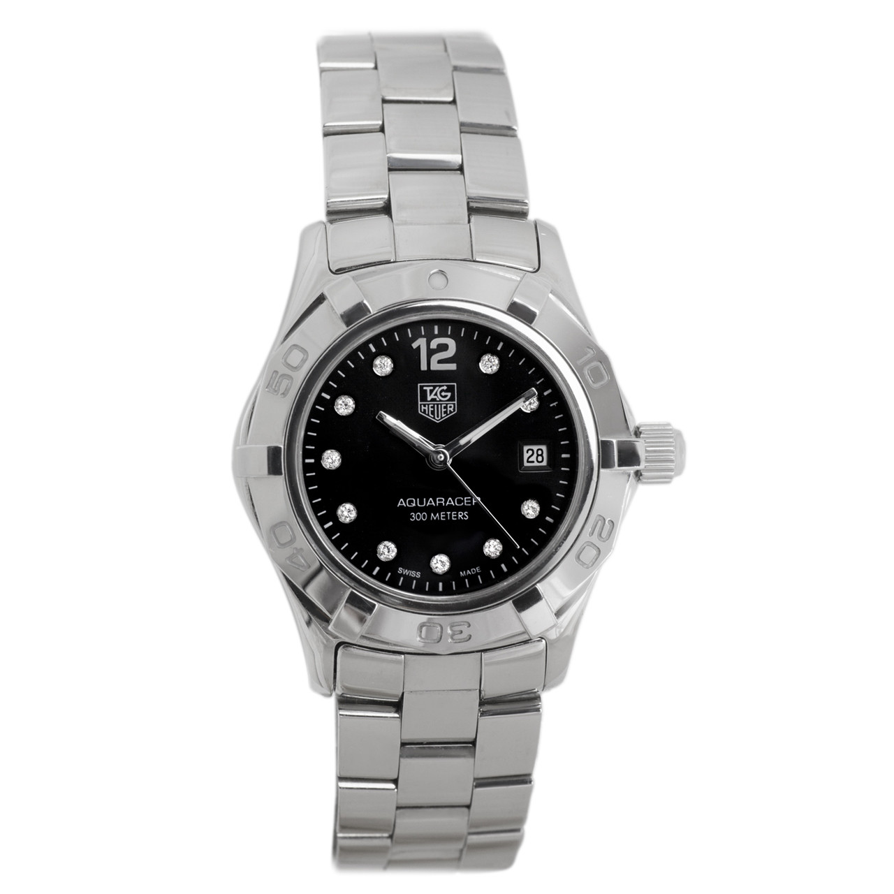 aed3129e56d0 Tag Heuer Stainless Steel   Diamond Aquaracer Ladies Watch - modaselle