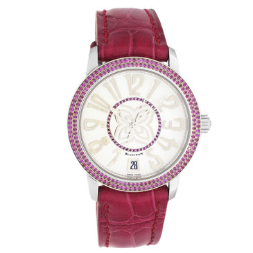 Blancpain 18K White Gold & Ruby Ultraplate Ladies Watch 3300-35A28-99B
