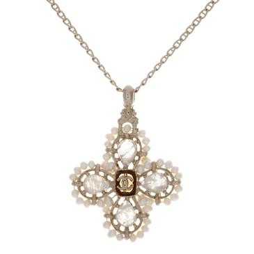 Chanel Gripoix Pearl Pendant Necklace