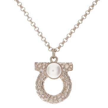 Salvatore Ferragamo Gancini Pearl Necklace