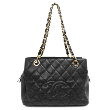 Chanel Black Caviar Petite Timeless Shopping Tote PTT
