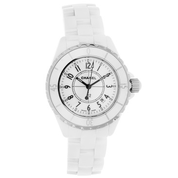 Chanel White Ceramic J12 33mm Quartz Watch
