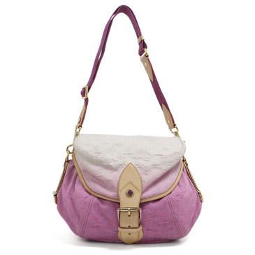Louis Vuitton Rose Purple Monogram Denim Sunshine Bag