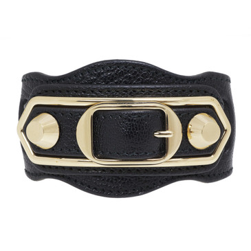 Balenciaga Black Metallic Edge Bracelet
