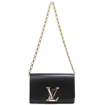 Louis Vuitton Black Calfskin Chain Louise GM