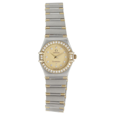 Omega 18K & Stainless Steel Diamond Constellation Ladies Watch