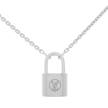 Louis Vuitton Sterling Silver Lockit Pendant