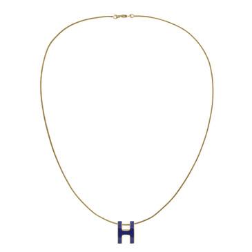 Hermes Pop H Blue Lacquer Pendant