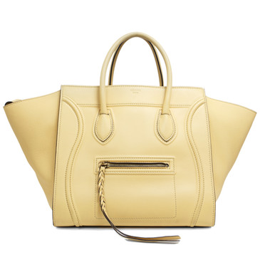 Céline  Yellow Calfskin Medium Phantom