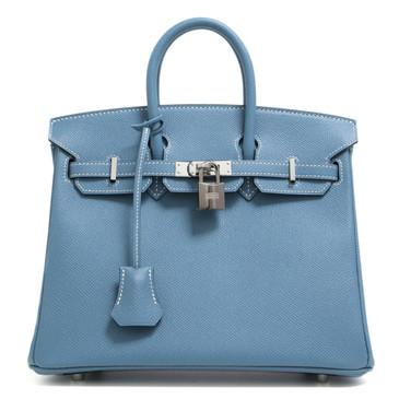 Hermès Blue Jean Epsom Birkin 25