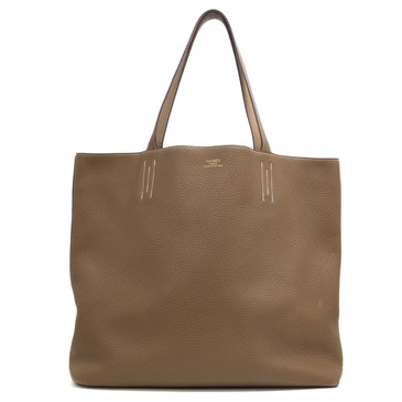 Hermès Alezan & Tabac Camel Clemence Leather Double Sens 45