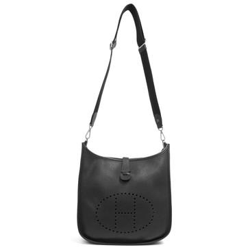 Hermès Noir Clemence Evelyne III GM