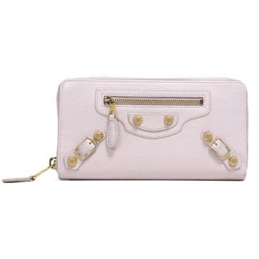 Balenciaga Rose Poudre Lambskin Giant 12 Continental Zip Around Wallet