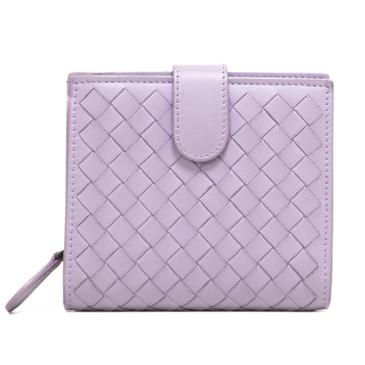 Bottega Veneta Lilac Nappa Intrecciato Mini Wallet