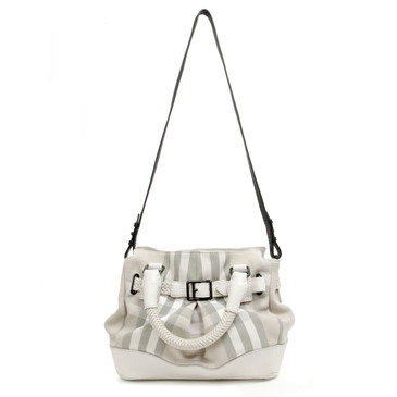 Burberry Braided Handle Convertible Tote