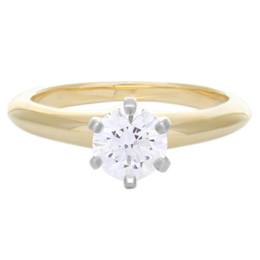 Tiffany & Co. 18K Yellow Gold Diamond Solitaire Ring