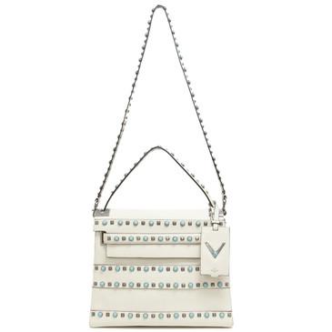 Valentino Ivory Calfskin My Rockstud Rolling Single Handle Bag