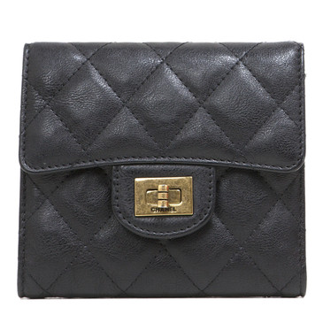Chanel Black Calfskin Small Reissue Wallet