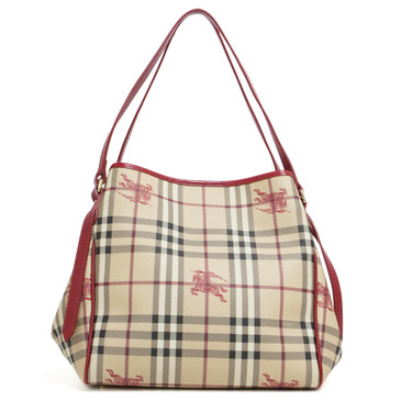 Burberry Red Haymarket Check Small Canterbury Tote
