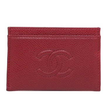 Chanel Red Caviar Timeless CC Card Holder