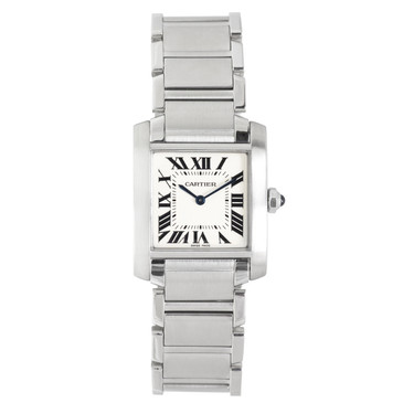Cartier Stainless Steel Tank Francaise Quartz Watch
