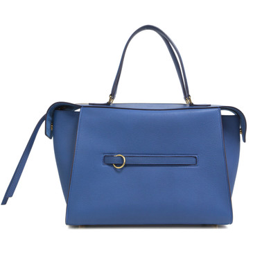 Céline Blue Bullhide Calfskin Small Ring Bag