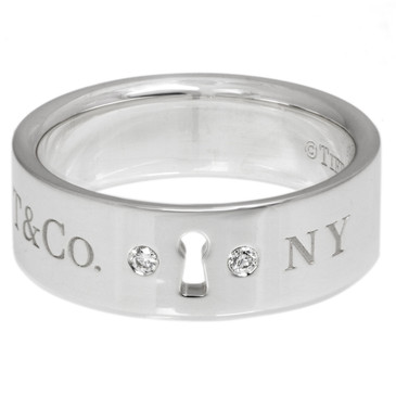 Tiffany & Co. Sterling Silver & Diamond Locks Ring
