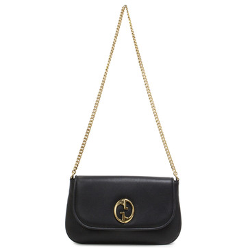 Gucci Black Calfskin 1973 Medium Chain Shoulder Bag