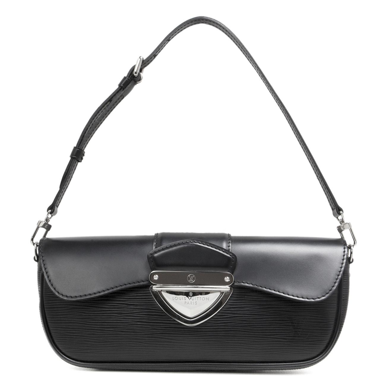 61bd4b986d81 Louis Vuitton Black Epi Montaigne Clutch - modaselle