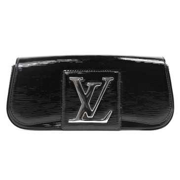 Louis Vuitton Black Electric Epi Sobe  Clutch