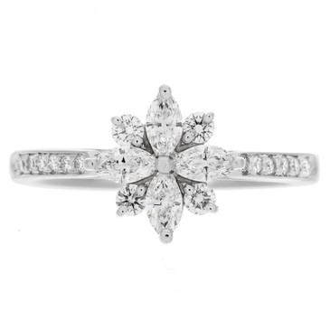 Tiffany & Co. Platinum & Diamond Victoria Ring