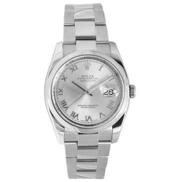 Rolex Stainless Steel Silver Dial Datejust 116200