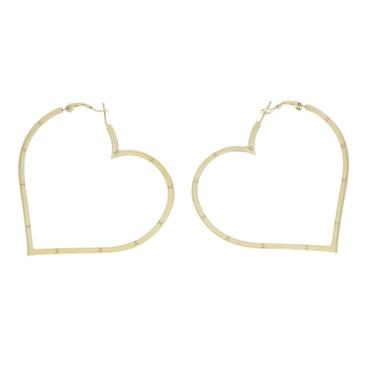 Chanel Heart Hoop Earrings