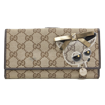 Gucci Monogram Canvas Chihuahua Continental Wallet