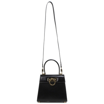 Salvatore Ferragamo Black Lady Gancini Box Bag