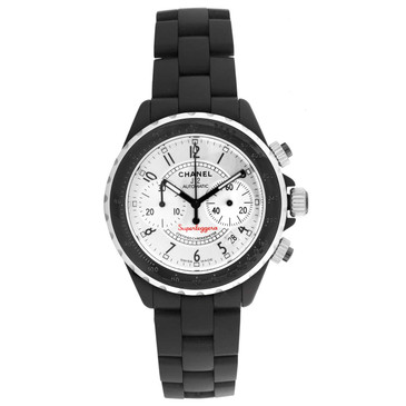 Chanel Black Ceramic Superleggera Chronograph Watch H2039